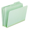 Pendaflex Pressboard Expanding File Folders, 1/3 Cut Top Tab, Letter, Green, 25/Box