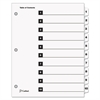 Traditional OneStep Index System, 10-Tab, 1-10, Letter, White, 10/Set