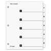 QuickStep OneStep Bulk Index System, Title: 1-5, Letter, White, 24 Sets/Box