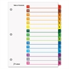 Cardinal Traditional OneStep Index System, 15-Tab, 1-15, Letter, Multicolor, 15/Set