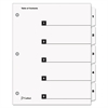 Cardinal Traditional OneStep Index System, 5-Tab, 1-5, Letter, White, 5/Set