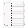 QuickStep OneStep Bulk Index System, Title: 1-10, Letter, White, 24 Sets/Box