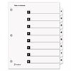 Traditional OneStep Index System, 8-Tab, 1-8, Letter, White, 8/Set
