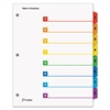 Cardinal QuickStep OneStep Bulk Index System, Title: 1-8, Letter, Multicolor, 24 Sets/Box