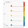 QuickStep OneStep Bulk Index System, Title: 1-5, Letter, Multicolor, 24 Sets/Box