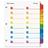 Cardinal OneStep Printable Table of Contents/Dividers, 16-Tab, 11 x 8 1/2, Multicolor