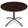 "iLand Table, Contour, Round Seated Style, 42"" dia. x 29"", Mahogany/Black"