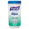 PURELL Hand Sanitizing Wipes, 5 7/10 x 7 1/2, Fragrance Free, 40/Canister, 6/Carton