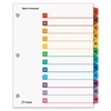 Traditional OneStep Index System, 12-Tab, 1-12, Letter, Multicolor, 12/Set