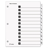 Cardinal Traditional OneStep Index System, 12-Tab, 1-12, Letter, White, 12/Set