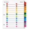 Cardinal OneStep Printable Table of Contents/Dividers, 24-Tab, 11 x 8 1/2, Multicolor