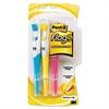 Flag + Highlighter, Chisel Tip, Assorted Colors, 3/Pack