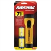 Rayovac Industrial Tough Flashlight, 2 D Batteries, Yellow/Black