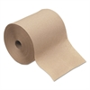 "Hardwound Roll Towels, 1-Ply, Natural, 8"" x 600 ft, 12 Rolls/Carton"