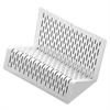 Artistic Urban Collection Punched Metal Business Card Holder, Holds 50 2 x 3 1/2, White