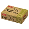 Recycled Paper Clips, Smooth, #1, 100/Box, 10 Boxes/Pack