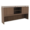 Alera Alera Sedina Series Hutch with Sliding Doors, 72w x 15d x 42 1/2h, Modern Walnut