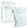 Poly Night Deposit Bags w/Tear-Off Receipt, 10 x 13, Opaque, 100 Bags/Pack