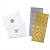Quality Park Decorative Foil Envelope Seals, Permanent, 1 1/4 x 1-1/4, Assorted, 42/Pack