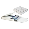 Quality Park Corrugated CD/DVD Mailer, 5 3/4 x 5 3/4, White, Recycled