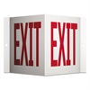 Projecting 3-Way Sign, EXIT, 6 x 9, Red/White
