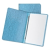"Pressboard Report Cover, 2 Prong Fastener, Letter, 3"" Capacity, Light Blue"