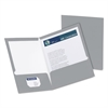 Oxford High Gloss Laminated Paperboard Folder, 100-Sheet Capacity, Gray, 25/Box