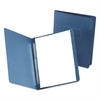 "Paper Report Cover, Large 2 Prong Fastener, Letter, 3"" Capacity, Dk Blue, 25/Box"