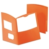 Oxford Contour Two-Pocket Recycled Paper Folder, 100-Sheet Capacity, Orange
