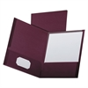 Oxford Linen Finish Twin Pocket Folders, Letter, Burgundy,25/Box