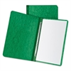 "Pressboard Report Cover, 2 Prong Fastner, Letter, 3"" Capacity, Dark Green"