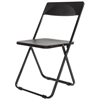Alera Plus Folding Chair, Black, 4/Carton