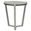Alera Round Occasional Corner Table, 21 1/4 dia x 22 3/4h, Black/Silver