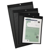 Oxford Shop Ticket Holders, Clear Front/Leatherette Back, 9 x 12, 25/Box