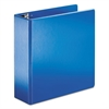"SuperStrength Locking Slant-D Ring Binder, 4"" Cap, 11 x 8 1/2, Blue"