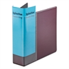 "Spine Vue Locking Round Ring Binder, 3"" Cap, 11 x 8 1/2, Maroon"