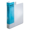 "Cardinal Spine Vue Locking Round Ring Binder, 1 1/2"" Cap, 11 x 8 1/2, White"