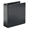 "SuperStrength Locking Slant-D Ring Binder, 4"" Cap, 11 x 8 1/2, Black"