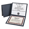 Diploma Cover, 12 1/2 x 10 1/2, Navy