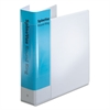 "Spine Vue Locking Round Ring Binder, 2"" Cap, 11 x 8 1/2, White"