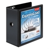 "ExpressLoad ClearVue Locking D-Ring Binder, 5"" Cap, 11 x 8 1/2, Black"