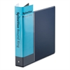 "Spine Vue Locking Round Ring Binder, 1 1/2"" Cap, 11 x 8 1/2, Navy"