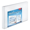 "Cardinal 11 x 17 ClearVue Slant-D Ring Binder, 1"" Cap, White"