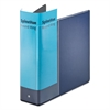 "Cardinal Spine Vue Locking Round Ring Binder, 3"" Cap, 11 x 8 1/2, Navy"