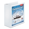 "Cardinal ExpressLoad ClearVue Locking D-Ring Binder, 4"" Cap, 11 x 8 1/2, White"