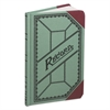 Boorum & Pease Miniature Account Book, Green/Red Canvas Cover, 200 Pages, 9 1/2 x 6