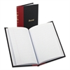 Boorum & Pease Record/Account Book, Black/Red Cover, 144 Pages, 5 1/4 x 7 7/8
