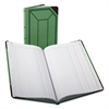 Boorum & Pease Record/Account Book, Journal Rule, Green/Red, 150 Pages, 12 1/2 x 7 5/8