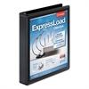 """ExpressLoad ClearVue Locking D-Ring Binder, 1 1/2"""" Cap, 11 x 8 1/2, Black"""