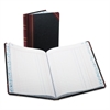 Boorum & Pease Record/Account Book, Journal Rule, Black/Red, 300 Pages, 9 5/8 x 7 5/8